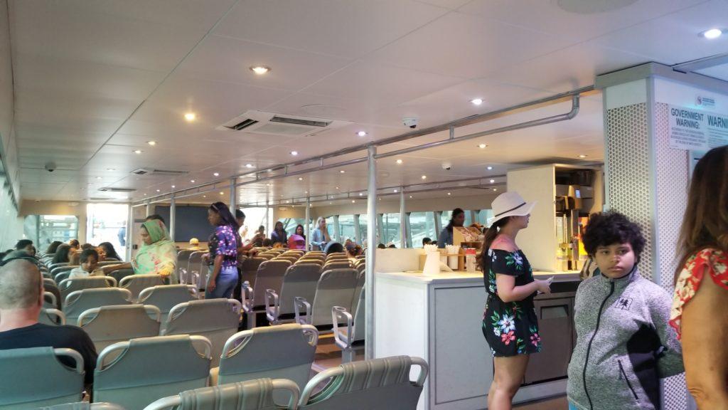 NYC Ferry lower deck