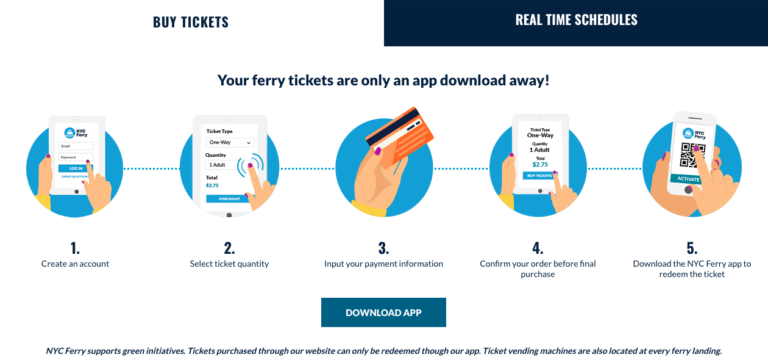 NYC Ferry Ticket App