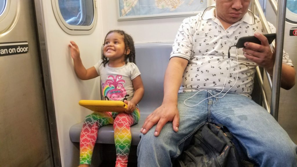 toddler NYC MTA Subway Amazon Fire HD tablet